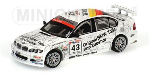 BMW 320i T. SCHNITZER DIRK MUELLER WINNER RACE 2 ETCC BARCELONA 2003 Minichamps