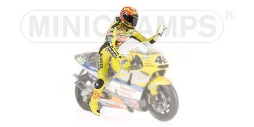 Piloto Valentino rouge World Champion  2001 Minichamps 312010046 Minichamps  choisissez votre préférée