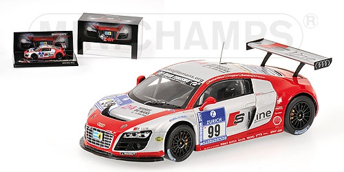 Audi R8 Lms Fassler Rockenfeller 24h Nurburgring 2009 Minichamps 437091999