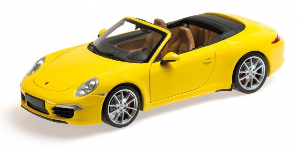 PORSCHE 911 CARRERA S CABRIO 991 2012 jaune Minichamps 100061031
