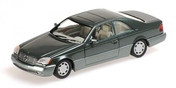 MERCEDES BENZ 600 SEC COUPE' C140 1992 vert METALLIC Minichamps 430032604 Minic