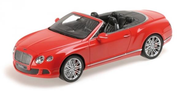BENTLEY CONTINENTAL GT SPEED CONVERTIBLE 2013 rouge Minichamps 107139330