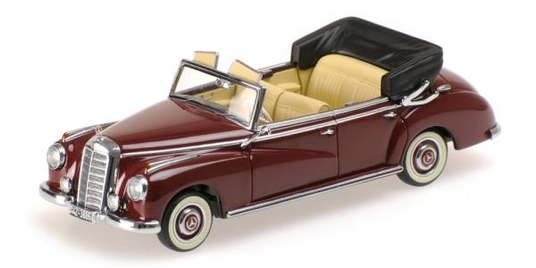 MERCEDES BENZ 300 CABRIOLET W186 DARK rojo 1952 Minichamps 437032131 Minichamps