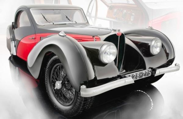 BUGATTI ATALANTE TYPE 57SC 1937 rojo & negro Bauer BA 7828-Z75 Bauer