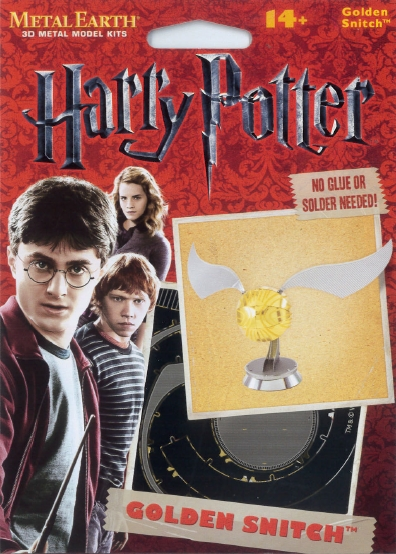FA MMS442 GOLDEN SNITCH HARRY POTTER METAL EARTH 3D KIT