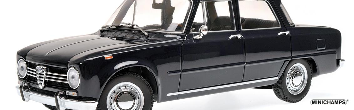 180 120905 ALFA ROMEO GIULIA 1300 BLUE DEL 1966 MINICHAMPS RIPA
