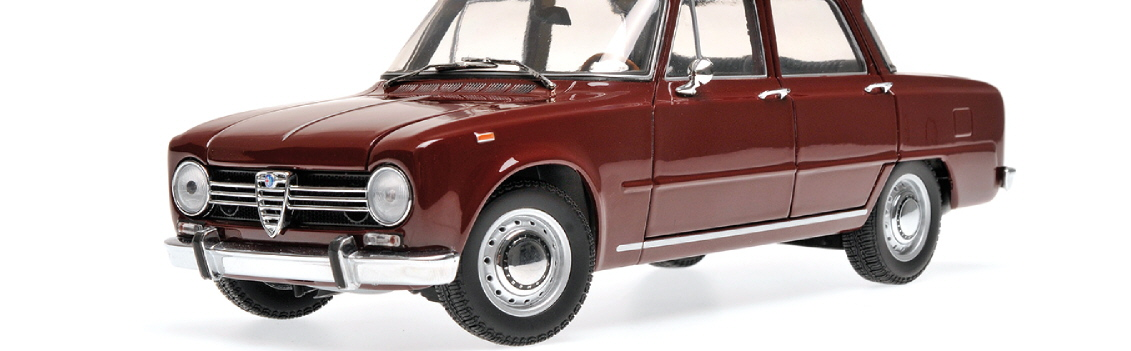180 120906 ALFA ROMEO GIULIA 1300 DARK RED 1966 MINICHAMPS RIPA