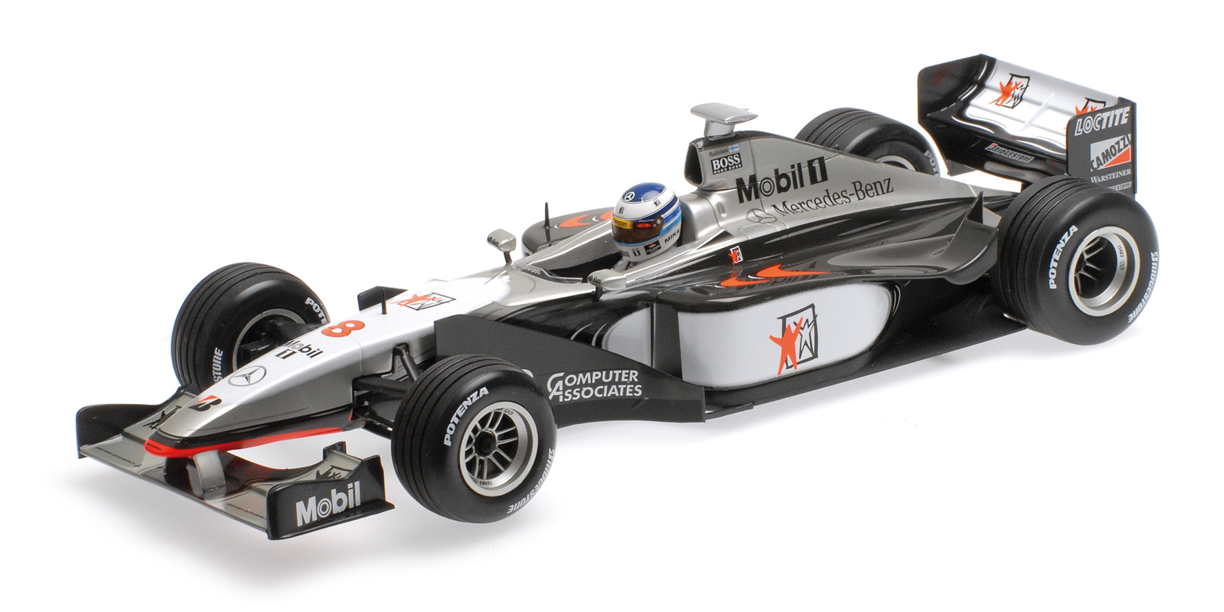 McLAREN MERCEDES MP4/13 MIKA HAKKINEN WORLD CHAMPION FORMULA 1 1998 Minichamps