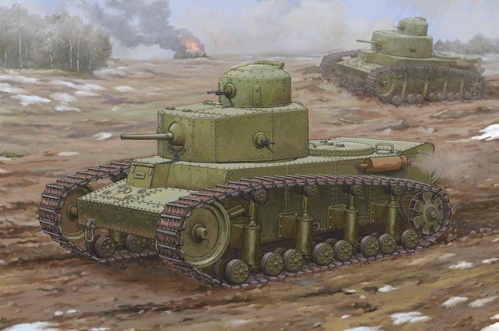 Sowjetische t - 12 mittleren panzer - hb 83887 hobby - boss