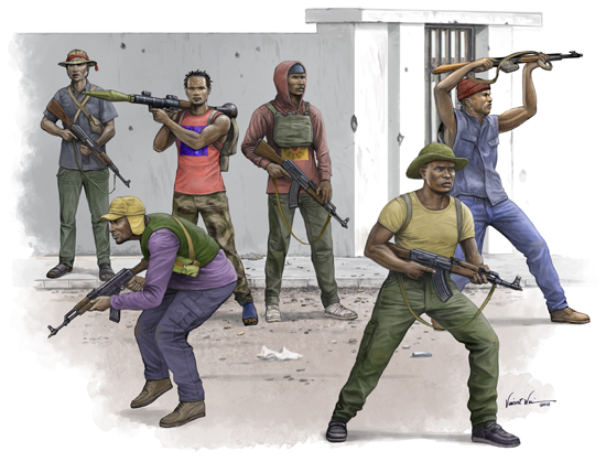 TR 00438 AFRICAN FREEDOM FIGHTERS TRUMPETER