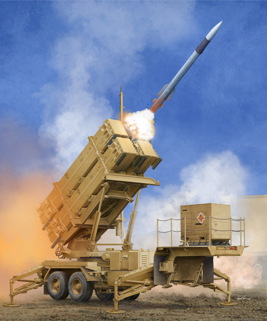 TR 01040 M901 LAUNCHING STATION WITH MIM-104F PATRIOT SAM SYSTEM PAC-3 TRUMPETER