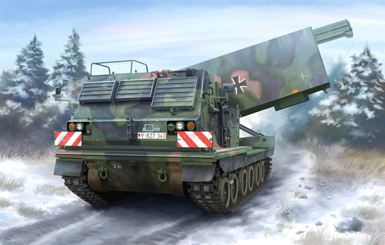 TR 01046 M270-A1 MULTIPLE LAUNCH ROCKET SYSTEM TRUMPETER