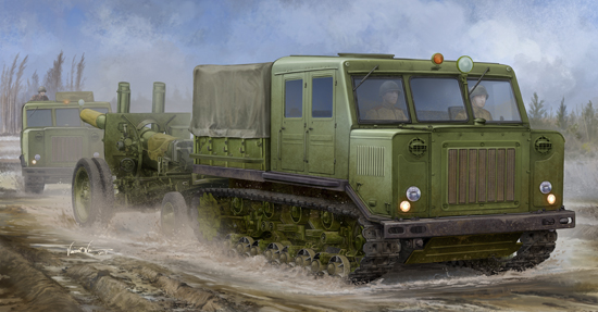 TR 09514 RUSSIAN AT-S TRACTOR TRUMPETER