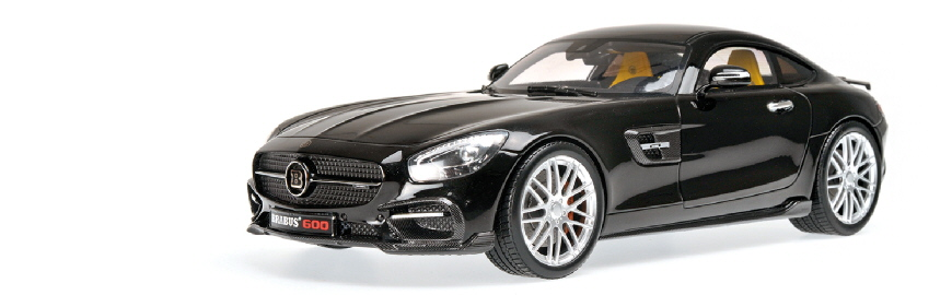 107 032520 BRABUS 600 AUF BASIS MERCEDES BENZ AMG GT S 2015 BLACK MINICHAMPS