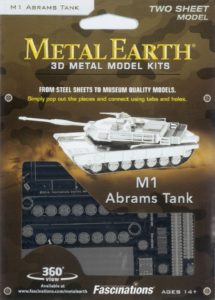 FA MMS206 METAL EARTH M1 ABRAMS TANK