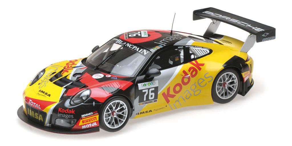 155 166176 PORSCHE 911 GT3 R KODAK TEAM IMSA PERFORMANCE PILET NARAC JOUSSE CORNAC 24H SPA 2016 MINICHAMPS