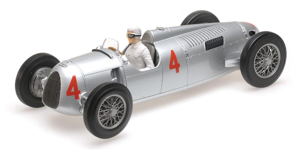 155 361004 AUTO UNION TYP C ACHILLE VARZI 2ND PLACE GRAND PRIX AUTOMOBILE DE MONACO 1936 MINICHAMPS