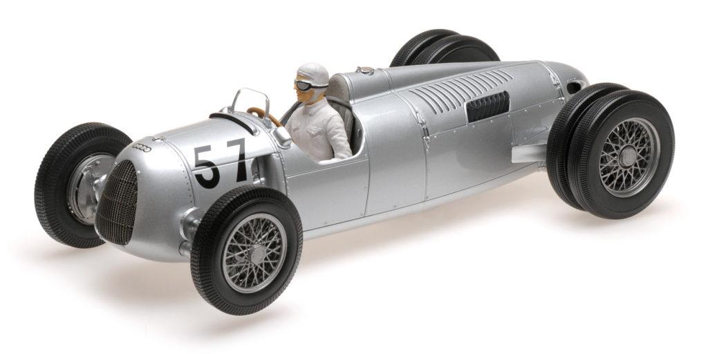 155 361057 AUTO UNION TYP C ACHILLE VARZI 2ND PLACE GRAND PRIX AUTOMOBILE DE MONACO 1936 MINICHAMPS