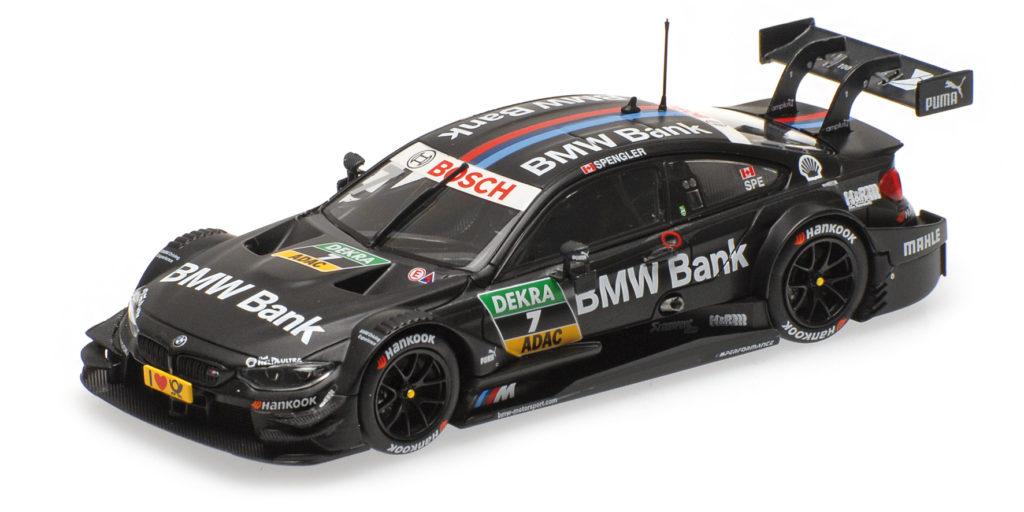 410 162407 BMW M4 F82 BMW BANK TEAM MTEK BRUNO SPENGLER DTM 2016 MINICHAMPS