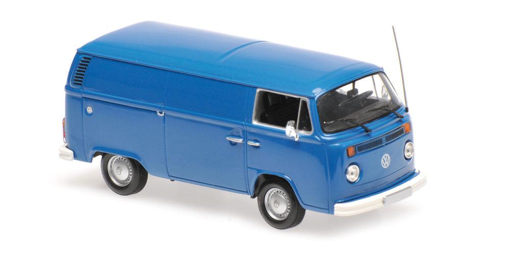940 053061 VOLKSWAGEN T2 DELIVERY VAN 1972 BLUE MINICHAMPS