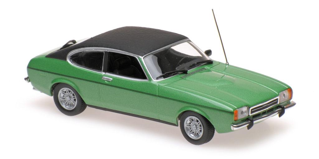 940 081200 FORD CAPRI II 1974 GREEN METALLIC MINICHAMPS