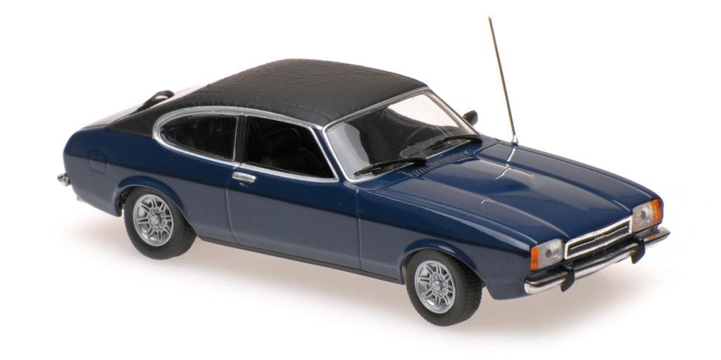 940 081201 FORD CAPRI II 1974 DARK BLUE MINICHAMPS