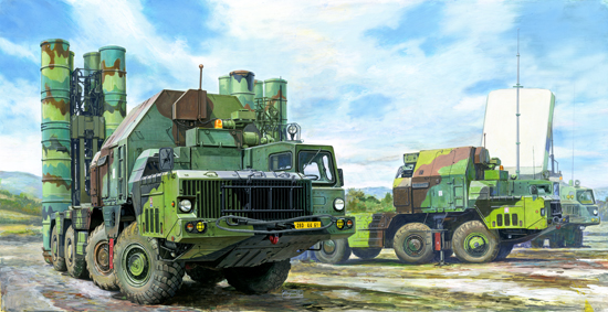 48N6E OF 5P85S TEL S-300PMU SA-10 GRUMPLE Trumpeter Kit TR 01038