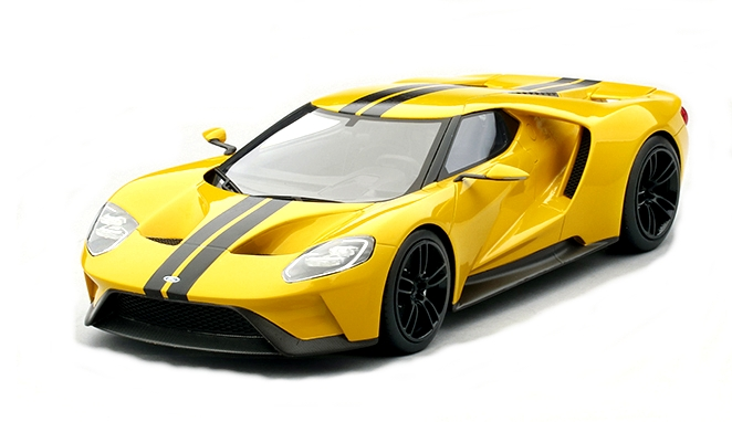 FORD GT TRIPLE jaune LOS ANGELES 2015 TOP SPEED TSM TS0029