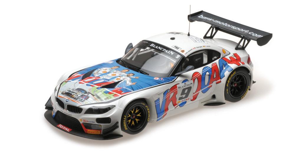 151 152309 BMW Z4 GT3 E89 ROAL MOTORSPORT ALEX ZANARDI SPENGLER GLOCK 24H SPA 2015 MINICHAMPS