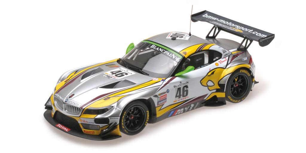 151 152346 BMW Z4 GT3 E89 TEAM MARC VDS PALTALLA LUHR CATSBURG WINNERS 24H SPA 2015 MINICHAMPS