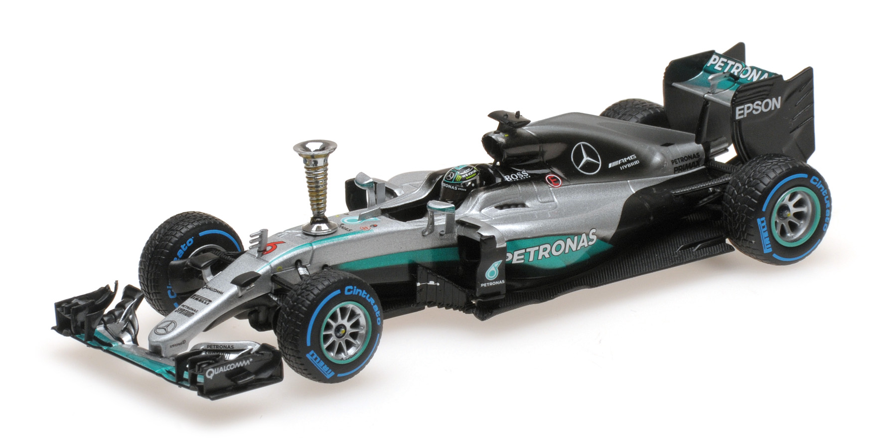 MERCEDES AMG W07 HYBRID NICO ROSBERG RUN WORLD CHAMPION 2016 Minichamps Minicham