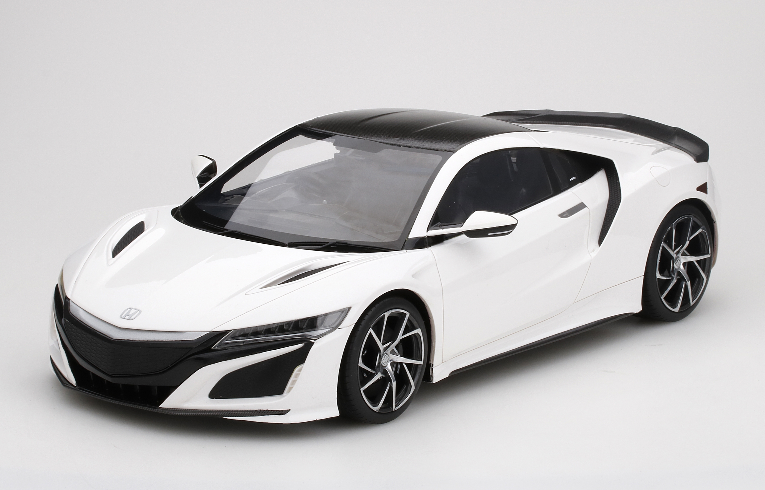 Honda NSX 130R Blanc Fibre de carbone Paquet 2017 TSM TSM161213 Model TRUE SCALE