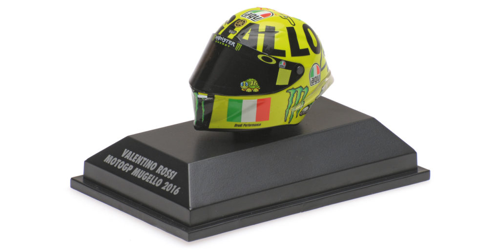 398 160086 CASCO AGV VALENTINO ROSSI GP MUGELLO MOTOGP 2016 MINICHAMPS
