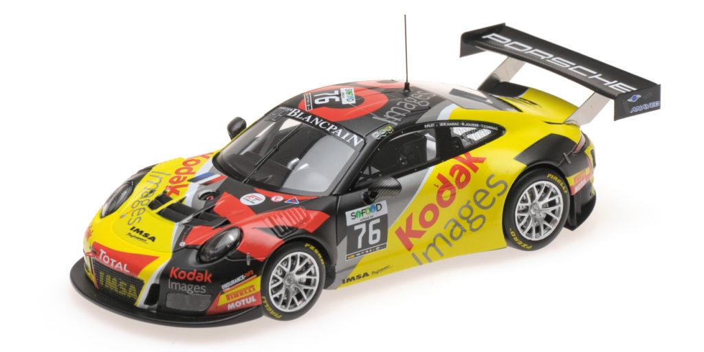 437 166076 PORSCHE 911 GT3 R 991 TEAM IMSA PERFORMANCE PILET NARAC JOUSSE CORNAC 24H SPA 2016 MINICHAMPS