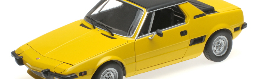 100 121664 FIAT X1_9 YELLOW 1974 MINICHAMPS RIPA