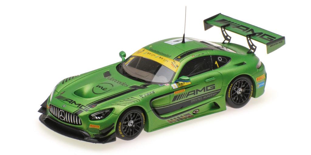 437 163101 MERCEDES AMG GT3 DRIVING ACADEMY MARO ENGEL FIA GT WORLD CUP MACAU 2016 MINICHAMPS