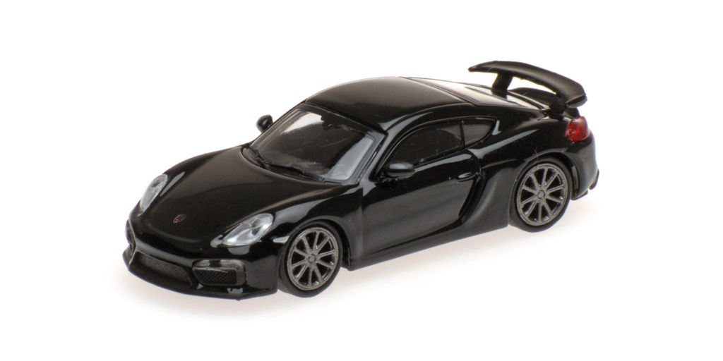 870 066121 PORSCHE CAYMAN GT4 2016 BLACK MINICHAMPS
