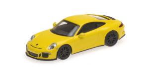 870 066224 PORSCHE 911 R 2016 YELLOW WITH BLACK WHEELS MINICHAMPS