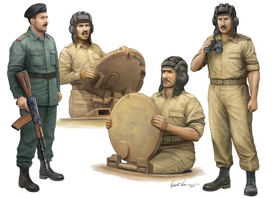 TR 00439 IRAQUI TANK ARMY TRUMPETER