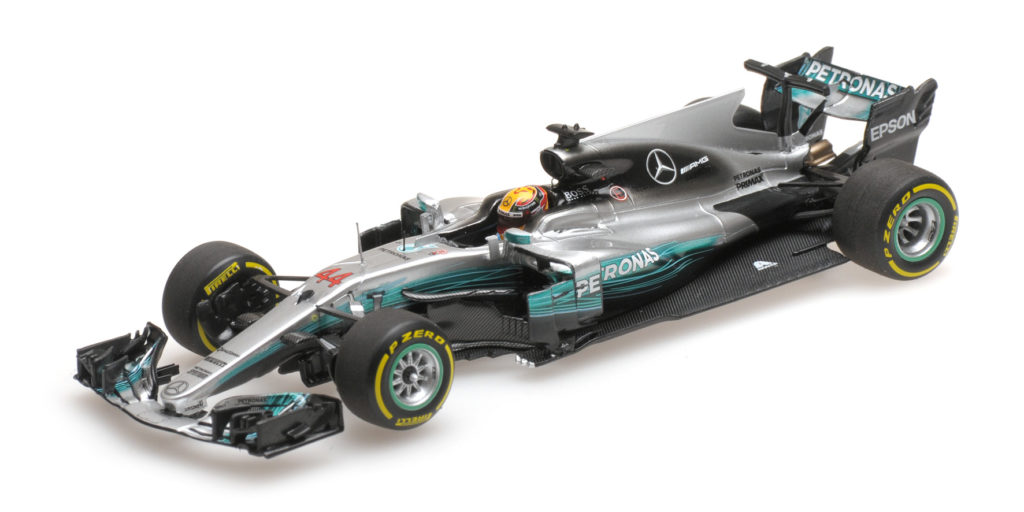 417 170244 MERCEDES W08 LEWIS HAMILTON WINNER CHINESE GP 2017 MINICHAMPS