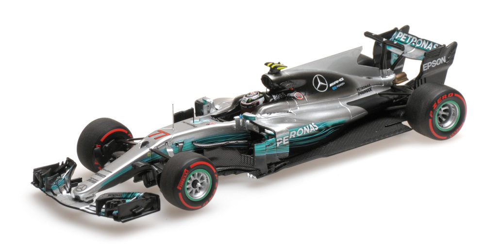 417 170477 MERCEDES W08 VALTTERI BOTTAS 1ST WIN RUSSIAN GP 2017 MINICHAMPS
