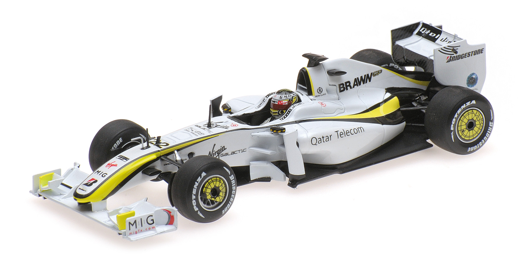 BRAWN BGP001 JENSON BUTTON WORLD CHAMPION 2009 Minichamps 436090022