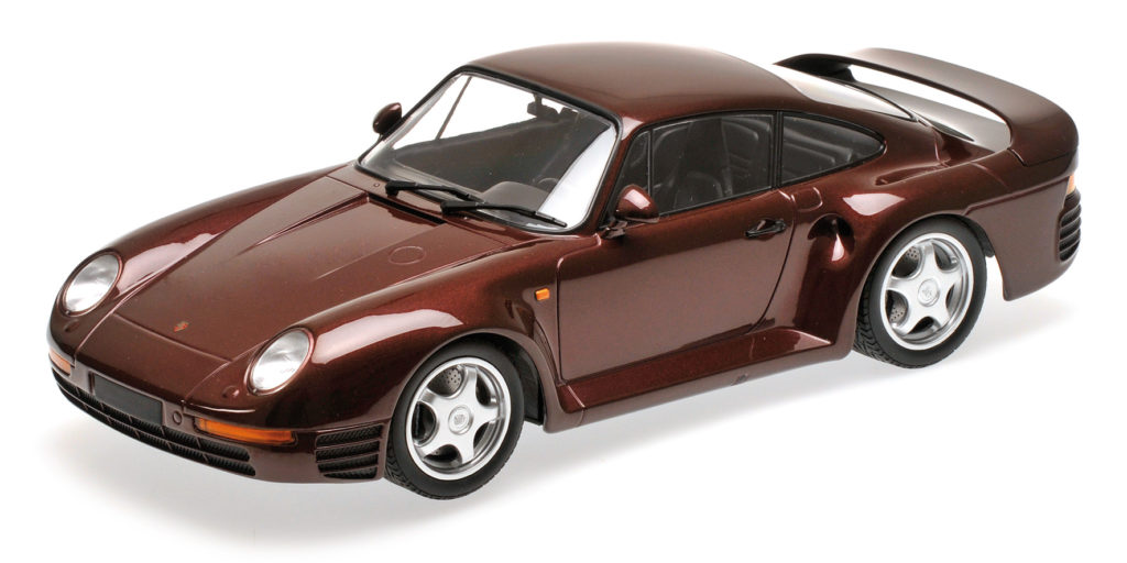 155 066204 PORSCHE 959 RED METALLIC 1987 MINICHAMPS
