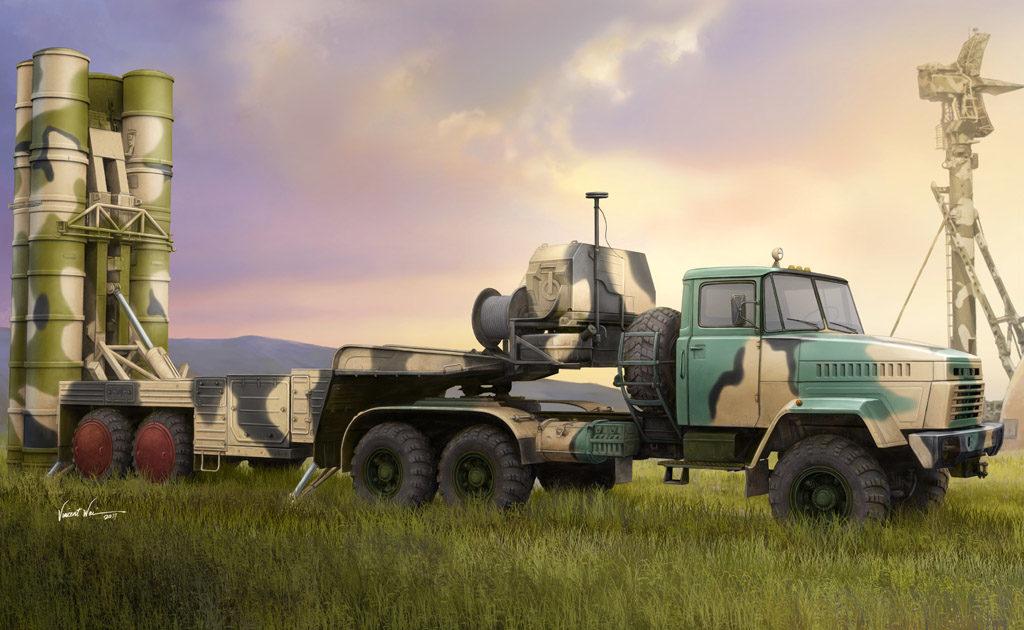 HB 85511 RUSSIAN KRAZ-260B TRACTOR WITH 5P85TE TEL S-300PMU HOBBY BOSS