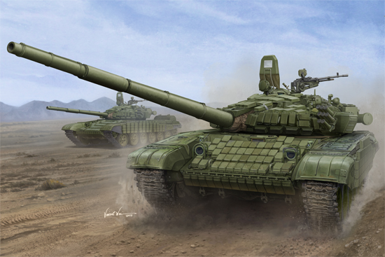 TR 00925 RUSSIAN T-72B-B1 MBT WITH KONTAKT-1 REACTIVE ARMOR TRUMPETER