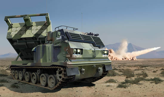 TR 01049 M270-A1 MULTIPLE LAUNCH ROCKET SYSTEM US TRUMPETER