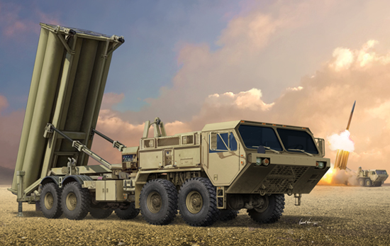 TR 01054 TERMINAL HIGH ALTITUDE AREA DEFENCE THAAD TRUMPETER