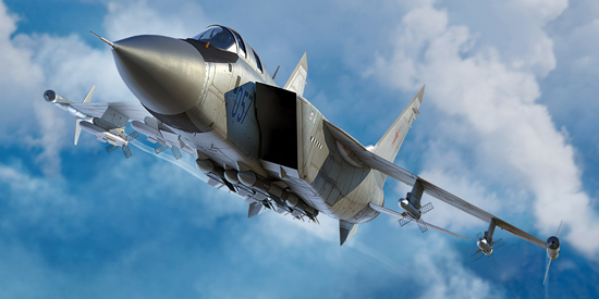TR 01681 RUSSIAN MIG-31M FOXHOUND TRUMPETER