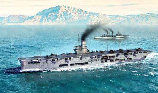 TR 06713 HMS ARK ROYAL 1939 TRUMPETER