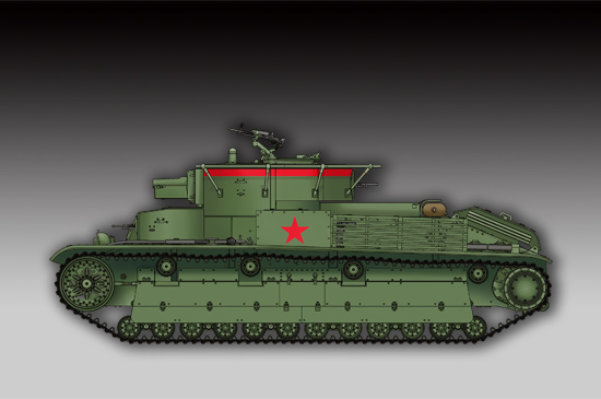 TR 07150 SOVIET T-28 MEDIUM TANK WELDED TRUMPETER